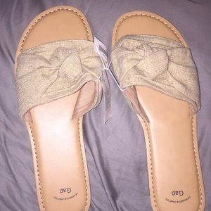 New Gap Knotted Slide Sandals